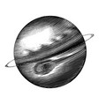 jupiter hand drawing vintage style black and vector image vector image