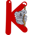 K for koala vector image vector image
