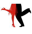 legs of woman and man wearing retro clothes vector image