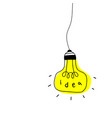 light bulb icon with concept idea vector image