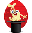 Magic Easter Bunny Cartoon vector image vector image