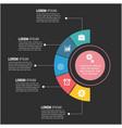 modern business data circle design image vector image