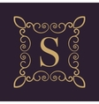 Monogram letter S Calligraphic ornament Gold vector image vector image
