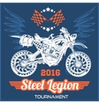 Motocross Tournament emblem vector image vector image