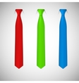 Neck ties collection vector image vector image