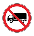 no truck sign vector image
