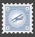 old postage stamp with image airplane vector image