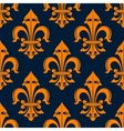Orange and blue fleur-de-lis seamless pattern vector image vector image