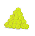 Pile of tennis balls Many tennis ball Sports vector image vector image