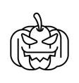 pumpkin line vector image