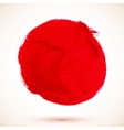 Red isolated acrylic paint circle vector image vector image