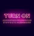 retro glow font neon light typography vector image vector image
