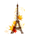 Romantic background with Eiffel Tower vector image vector image