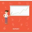 Schedule concept report flat vector image