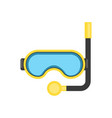 snorkel mask - equipment for diving or relaxing at vector image vector image