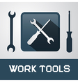 Spanner and Screwdriver Icons - Work Tools vector image vector image