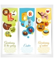 Spring Banners Vertical vector image vector image