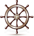 Steering wheel for ship vector image vector image