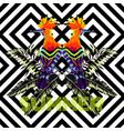 summer slogan tropical bird mirror print vector image