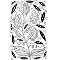 sweet pea - flower black and white vector image vector image