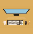 top view of computer screen with keyboard vector image vector image