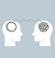 two humans head silhouette psycho therapy concept vector image