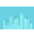 urban blue background vector image vector image