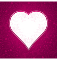 valentine pink background with big heart vector image vector image