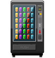 Vending machine fulled of soft drink vector image vector image