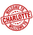 welcome to Charlotte vector image vector image