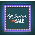 Winter sale with blue lights vector image