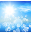 Winter sunny day background vector image