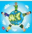 World Kids vector image