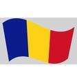 Flag of Chad waving vector image