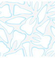white and blue teeth seamless pattern eps10 vector image
