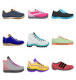 woman sneakers set in cartoon style vector image