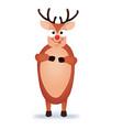 christmas reindeer cute and funny character deer vector image