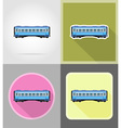 railway transport flat icons 13 vector image