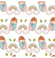 baby boy and rainbows background vector image
