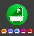 bath shower icon flat web sign symbol logo label vector image
