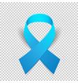 blue ribbon solidarity awareness symbol vector image