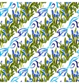 Bluebell flowers pattern vector image