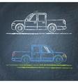 Car sketch on chalkboard vector image vector image