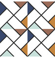 checkered floor tile abstract colored triangles vector image