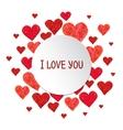Circle frame made of hearts vector image