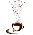 coffee cup with notes vector image