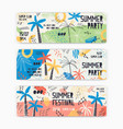 collection web banner templates decorated by vector image vector image
