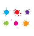 color paint splattersplash set vector image vector image