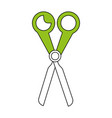 color silhouette image cartoon scissors tool for vector image vector image