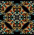 colorful vintage damask seamless pattern vector image vector image